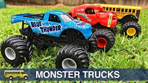 Monster Trucks For Kids Hot Wheels Monster Jam Monster Truck Stunts ...