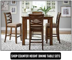 Shop Counter Height Dining Table Sets Black Opt