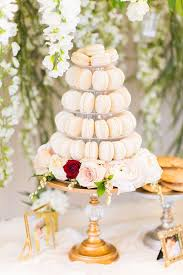 Macaron Tower From An Elegant Spring Anniversary Party On Karas Ideas