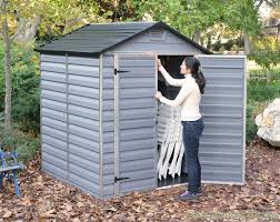 6 X 5 Apex Shed by Palram 6x5 Plastic Skylight Grey Shed Greenhouse Stores