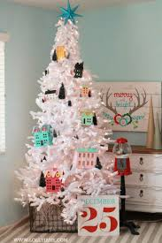 Diy Christmas Village Tree Decorating Idea