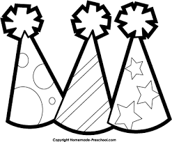 Party clipart black and white 1