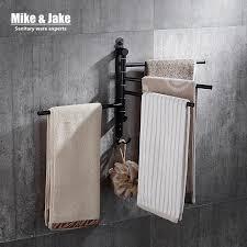 schwarz bewegliche bad handtuch rack 2 3 4 handtuch bars badezimmer schwarz handtuch regal beweglichen handtuch regal bad zubehör hc6709