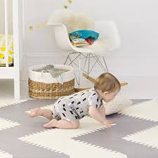 skip hop geo grey cream playspot foam floor tile playmat chevron