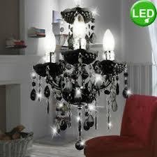 details zu led kristall kronleuchter wohn zimmer decken leuchte hänge lüster le schwarz