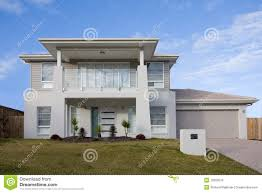 100 Modern Two Storey House With A Balcony Stock Photo Image Of Roof