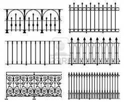 Halloween Cemetery Fence Finials by White Wrought Iron Modular Railings And Fences Stock Photo 6309326