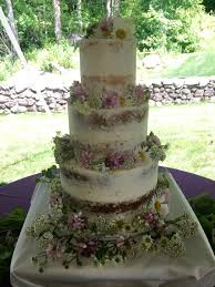 Naked Cake With Seasonal Wild Flowers