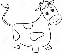 Coloring PageCow Cartoon Drawing Of A Art Library 1 Page Cow