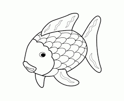 Rainbow Fish Clipart Black And White Free Coloring Pages