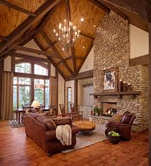 Private Residence Rustic Living Room