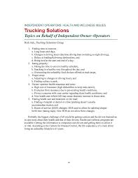 100 Gordon Trucking Terminals Front Matter Research On The Health And Wellness Of Commercial