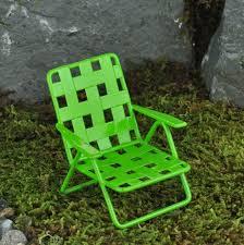Miniature Green Web Lawn Chair