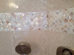 bathroom tile border height backsplash plain tiles mosaic