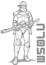 Star Wars The Clone Trooper Drawing In Coloring Page
