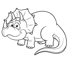 Vector Illustration Cartoon Dinosaur Coloring Book Stock Free Dinosaurs Dino Game Full Size