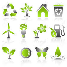 Collect Environment Icon With Tree Leaf Light Bulb Recycling