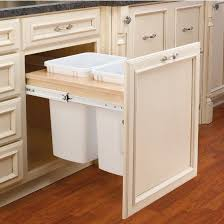 Under Cabinet Trash Can Pull Out by Rev A Shelf Double Pull Out Waste Bins For Framed Cabinet 27