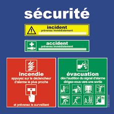 panneau de chambre panneaux de consignes de sécurité incendie évacuation