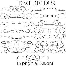 70 OFF SALE Text Dividers Digital Clipart