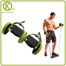 Integrated Fitness equipment spring exerciser Double wheel AB