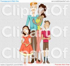 Royalty Free RF Clipart Illustration of a Happy Mixed Face