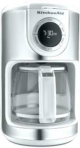 Kitchenaid Coffee Maker Clean Kitchen Aid Makers Cup White Everything Kitchens