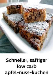 schneller saftiger low carb apfel nuss kuchen glutenfrei