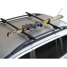 porte skis sur barres de toit menabo ski rack 423618 pour 1 paire