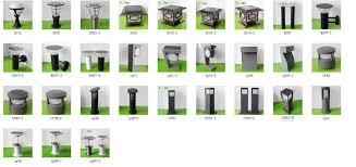 aluminum decorative lighting pole garden solar light 80cm