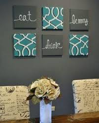 Image Result For Dining Room Wall Decor Ideas Diy Inside Teal Kitchen Art