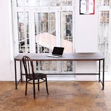 Reclaimed Wood Desk Top Office Furniture Modern Custom Office Desk Wood Custom Made Modern Office Desk Wood Top With Metal