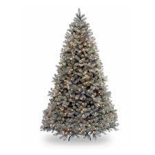 Artificial Pre Lit Douglas Fir Christmas Tree by 7 5 Ft Feel Real Yukon Fir Hinged Pre Lit Christmas Tree Hayneedle