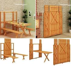 diy project fold up picnic table home design garden