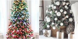 Kinds Of Christmas Tree Ornaments by 35 Unique Christmas Tree Decorations 2017 Ideas For Decorating