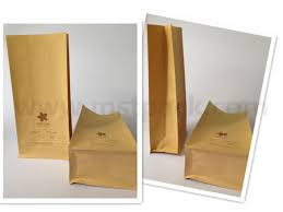 Coffee Powder Packaging Bag Kraft Paper Flat Bottom