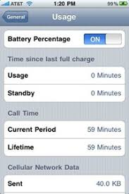 How To Show The Battery Percentage Indicator iPhone 3GS