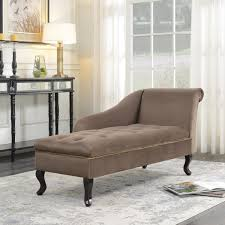 100 Bedroom Chaise Lounge Chair BELLEZE Velveteen Button Tufted Storage Spa