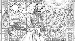 BEAUTY And THE BEAST Adult Coloring Pages This Fairy Tale Life At Beauty The Beast