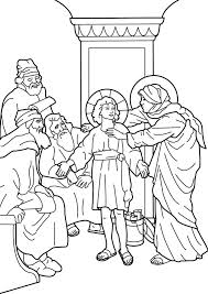 Boy Jesus In The Temple Bible Coloring Page