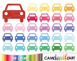 50 Car ClipartTransport ClipartTravel ClipartColorful CarsTrip Planner Clipart