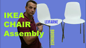 Strandmon Wing Chair Assembly by Ikea Chair Leifarne Broringe Assembly Youtube