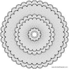 Intricate Mandala Coloring Pages For Good Flower With Regard To
