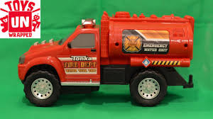 Unwrapping Hasbro Tonka Mighty Fleet Fire Department Water Tank Unit ... Tonka Mighty Motorized Fire Engine Vehicle Toys For Kids Set To Yellow Tough Cab Engine Pumper Truck Titans Youtube Funrise Classics Steel Buy Online At The Nile Fleet Goliath Games Uk Rubbish Site Toy Trucks For Kids Cherry Picker Online Universe Toughest Minis Ape Nz Zulily Amazoncom With Lights And Hyper Garbage