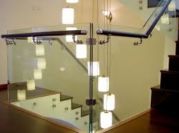 Ideas : Beautiful Glass Stair Railing Design Examples To Inspire ... Stairs Amusing Stair Banisters Baniersglsstaircase Create Unique Metal Handrailings With Pinnacle Staircase And Hall Contemporary Artwork Glass Banister In Best 25 Glass Balustrade Ideas On Pinterest Handrail Wwwstockwellltdcouk American White Oak 3 Part Dogleg Flight Frameless Stair Railing Elegant Safety Architecture Inspiring Handrails For Beautiful Amusing Stright Banister With Base Frames As Decor Tips Cool Banisters Ideas And Newel Detail In Brown