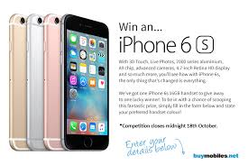 Win an Apple iPhone 6S smartphone – color of choice giveaway