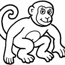 Picture Of A Monkey Face AZ Coloring Pages