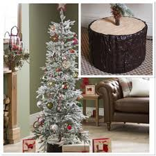 Artificial Christmas Trees Uk 6ft by 6ft Alaskan Flocked Christmas Tree Indoor Artificial Xmas