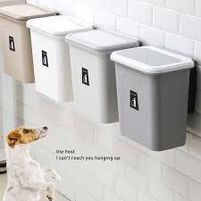 5l mülleimer küche hängen mülleimer wand montiert mülleimer klapp schrank tür müll schlafzimmer badezimmer büro lagerung box