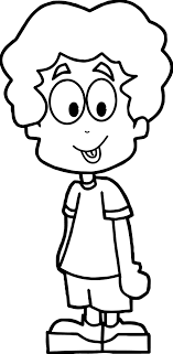 Cartoon Boy Coloring Page Best Of
